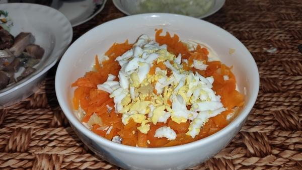 морковь и яйцо