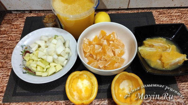 нарезать фрукты