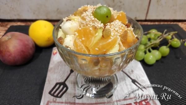 Фруктовый салатик - полезный и вкусный десерт для поднятия настроения!