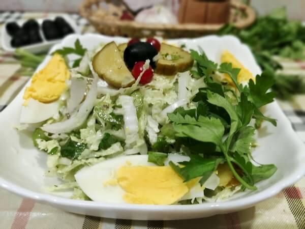 салат капуста яйца