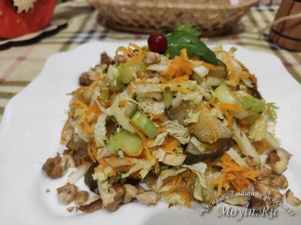 салат капуста и сельдерей