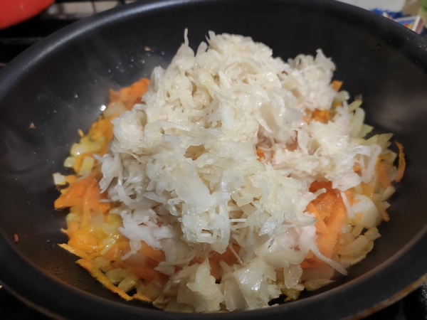 Пшено с квашеной капустой (пшенная каша с капустой) - блюдо для поста, веганского меню